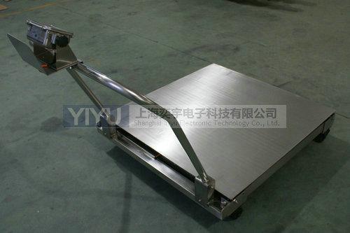 上海奕宇生产的移动式地磅,可选用不锈钢材质制作