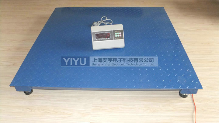 标准型电子地磅实物图,出厂标配上海耀华XK3190系列显示仪表