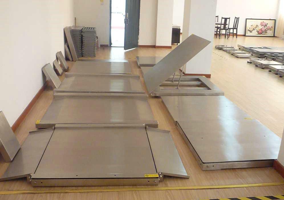 双层超低台面电子地磅  不锈钢系列 奕宇展示厅