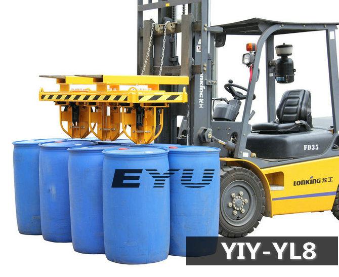 如厂家直销轻型夹桶器/塑料桶夹具/江门叉车油桶夹