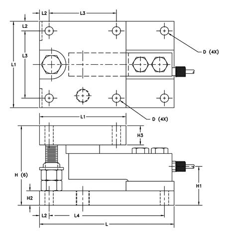 三个称重传感器接线图