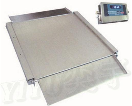 不锈钢单层超低电子地磅